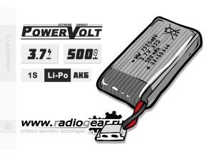 Li-Po PowerVolt 500 mAh 3.7v