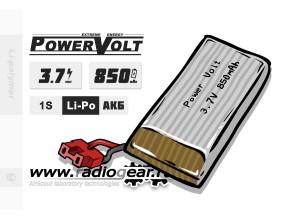 Li-Po PowerVolt Extreme 850 mAh 3.7v